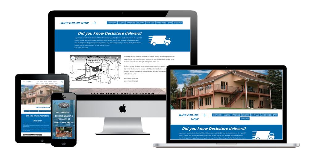 Deckstore web page