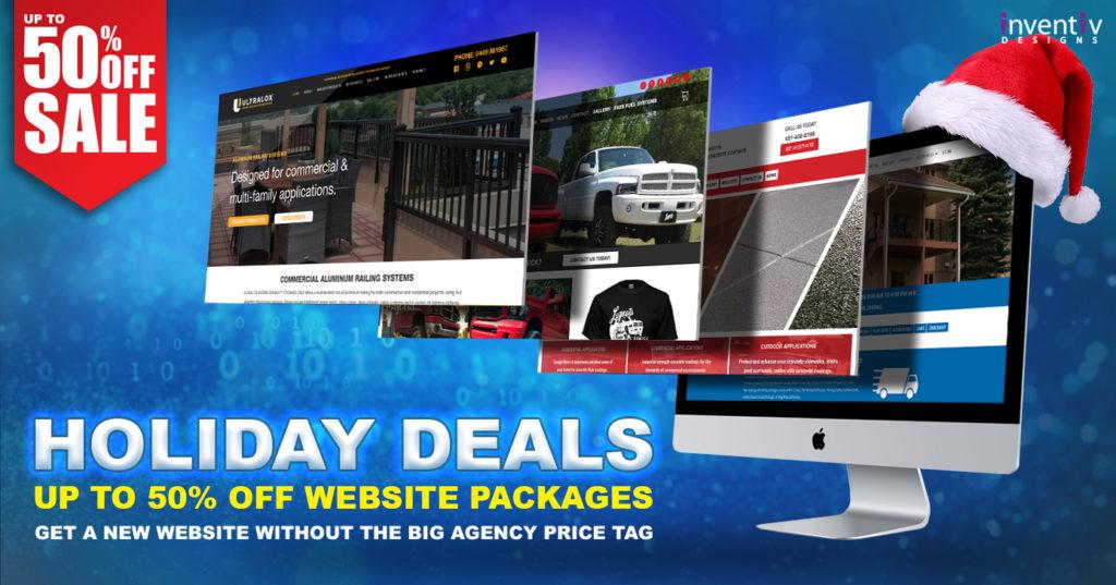 Inventiv Web Deign Social Media Image - Holiday Deals 2